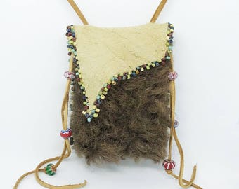 Buffalo Fur Medicine Bag