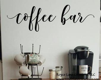 Coffee Bar Decal Kitchen Wall Decal