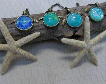 Sea Turtle Art Pendant