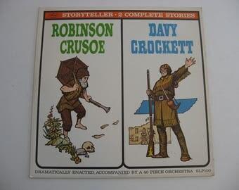 Storyteller - Robinson Crusoe - Davy Crochett - Circa 1960's