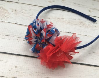 Fourth of July Headband - Red, White, and Blue Headband for Girls - July 4 Head Band - July Fourth Headband - Patriotic Head Band for Girl