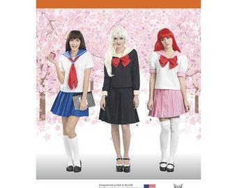 Simplicity 8160 Effy Sews Schoolgirl Uniform Cosplay Misses' Costume