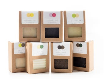 Soap Set - Choose Any Five - All Natural. Vegan and Palm Free Options Available