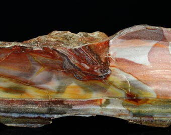 Beautiful Large Polished Serape Sarape Jasper End Cut- A548