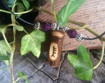 Alder Ogham Pendant. Alder Birth Tree Necklace, Alder pendant, Wooden Pendant, Adjustable Necklace, Alder Wood Necklace