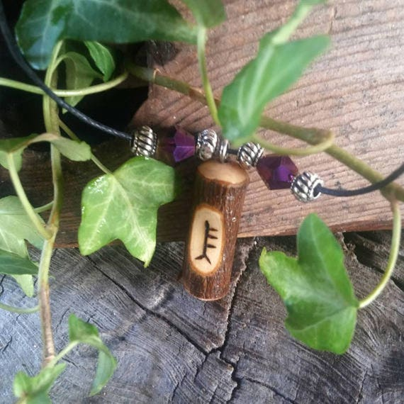 Alder Ogham Pendant. Alder Birth Tree Necklace, Alder pendant, Wooden Pendant, Adjustable Necklace, Alder Wood Necklace