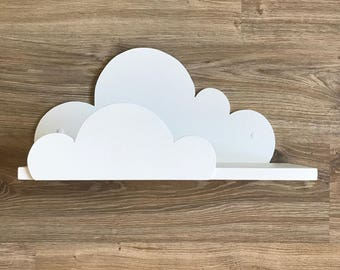 Large Cloud shelf, Cloud theme, Hanging cloud, Wall shelves, Kids shelves, White cloud, Cloud shelves, Wall shelves, Wall decor, Room decor.