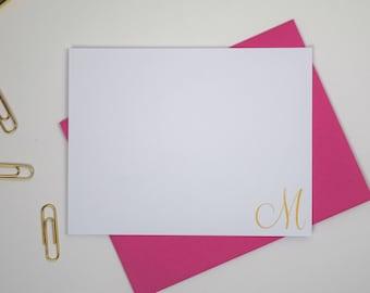 Personalized Monogram Stationary Set, Personalized Flat Note Cards, Personalized Stationary Monogram Note Cards, Personalized Stationary Set