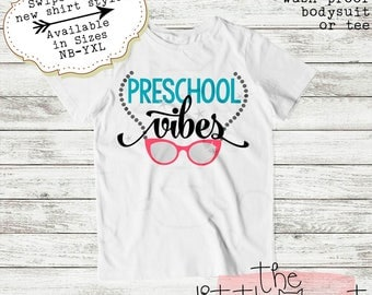 Back to School - First Day of School - 1st Day of School - Preschool - School Shirt - Pre-K - Back To School Shirt - Preschool Vibes