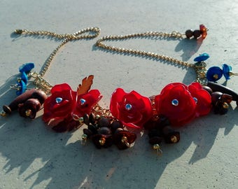 necklace   I remember you ... red ..