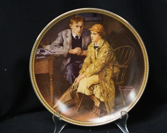 """Norman Rockwell  """"Confiding in the Den""""  Collector Plate from the """"Rediscovered Women"""" Series"""