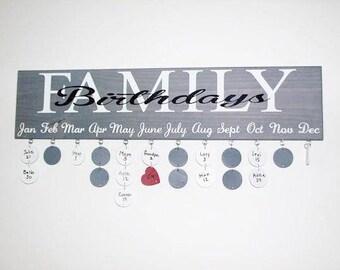 Rustic Family Birthday Board, Family Birthdays Board, Custom Family Birthday Board, Custom Birthday Board, Calendar Board, Birthday Board