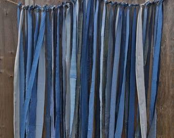 Denim curtain | Etsy