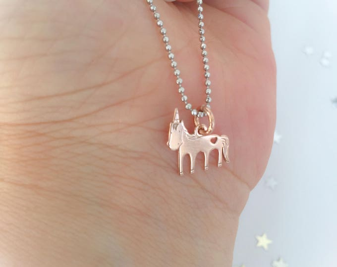 Featured listing image: Dream Big - Unicorn Necklace with 925 Silver Chain