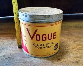 Vintage Vogue Cigarette Tobacco Tin