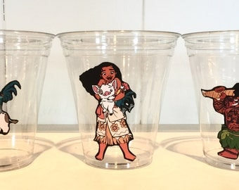 MOANA 12 oz disposable party cups