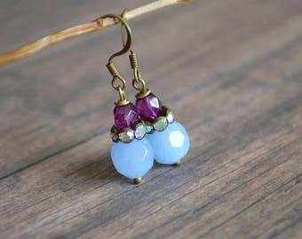 Vintage Style Earrings, Handmade Earrings, Boho Earrings, Gift Idea, Gift For Her, Romantic Earrings, Wedding Jewelry, Bridal Party