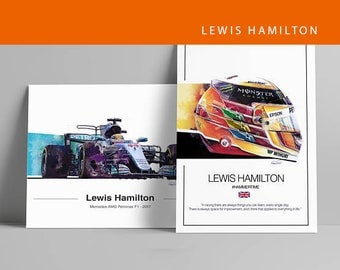 Lewis Hamilton Limited Edition F1 Art Poster - F1 Gift
