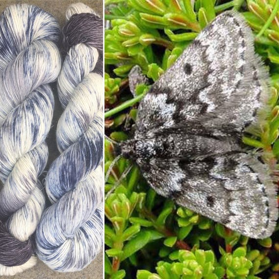 Mountain Moth Sparkle Single Ply, merino fingering yarn with silver sparkle