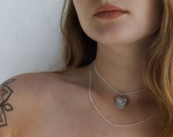 Simple Dainty Silver Double Layered Thin Chain Necklace - Customise & Choose A Charm!
