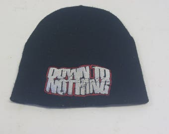 Down To Nothing band beanie black winter