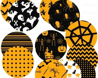 70% OFF SALE Halloween Circles Digital Clip Art - Personal and Commercial Use - Instant Download - D368