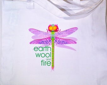 Earth Wool & Fire tote bag.
