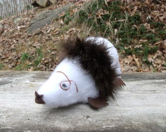 Plush Mole, Fancy Toy, Stuffed Toy, Toys and Games, Stuffed Mole, Elegant Plush Mole, Star Nose Mole, Plush Animal, White  Mole, Albino Mole