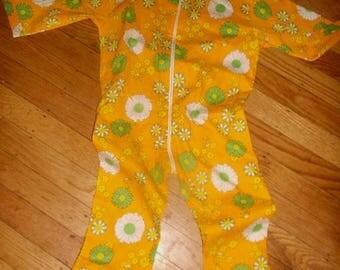 ON SALE Girls toddler Flower Power retro 60's romper jumpsuit 2-3 T~100% cotton