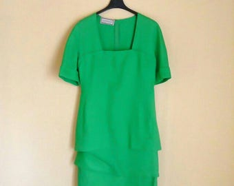 GIANNI VERSACE Green Vintage Dress