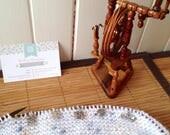 Marqueurs de mailles x5 - LOT 21 TRICOT - pour tricot jusqu'aux aiguilles 5,5 métal argenté