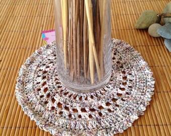 Doily mandala decoration Bohemian style crochet cotton
