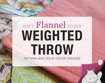 Weighted Throw Blanket - You Pick Pattern & Weight - 40x60""
