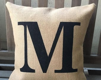 SALE Custom Letter/Number Pillow, Initial pillow, Gift Pillow, Wedding Gift, Birthday Gift, House warming, mother's day