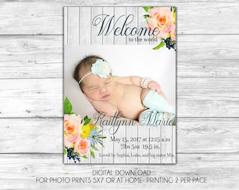 Welcome to the World Baby Girl Announcement