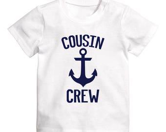 Cousin Crew Shirt, Matching Cousin Shirts, Nautical Cousin Crew, Cousin Vacation Shirt