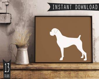 Boxer dog art | Etsy