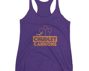 Harry Potter Inspired Tank – Chudley Cannons – Quidditch – Womens Racerback Tank Top – Quidditch Shirt