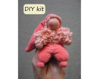 Items similar to diy do it yourself kit finger puppetdoll diy do it yourself kit finger puppetdoll duimpie instructions with solutioingenieria Images