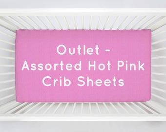 OUTLET 4-Pack of Assorted Baby Girl Hot Pink Crib Sheets by Carousel Designs