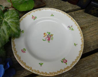 Set of 4 Vintage Royal Tuscan China Salad Dessert Plates - England