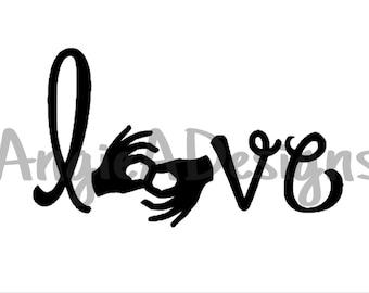 Love - ASL Interpreter SVG