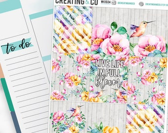 Full Bloom Weekly Planner Kit for No-White Space and White Space Planners  - WK16