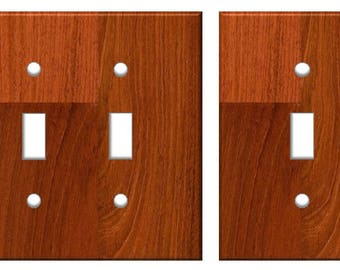 Cherry Wood Light Switch Plate Cover Planks // cherry red image 81 // SAME DAY SHIPPING**