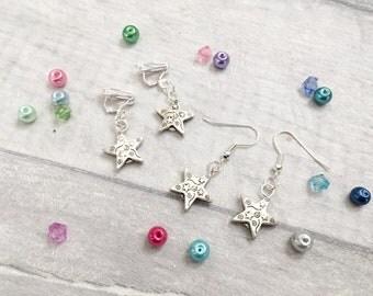 Star Earrings, Clip On Earrings, Kids Earrings, Party Gift, Party Favours, Loot Bags, Party Bag Fillers, Little Girl Earrings