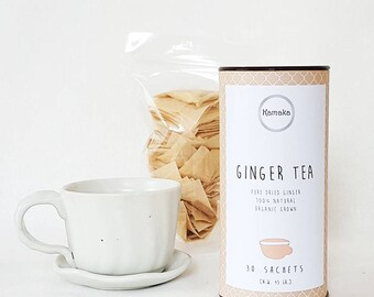 Ginger Herbal Tea, Refreshing Tea, 30 Sachet Everyday Tea, Kamaka Tea, Pure Natural 100%