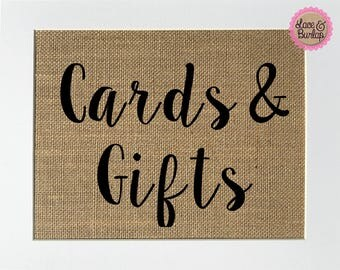 Cards & Gifts Rustic Theme Burlap Sign Print 5x7 8x10 - wedding engagement gift shower Valentine's Day love