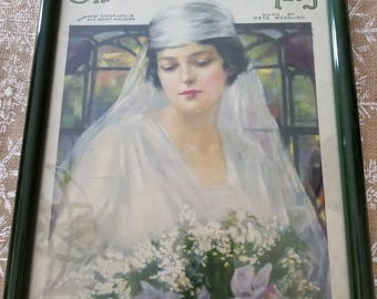 Framed sheet music....Oh what a pal was Mary....Pete Wendling....dark green frame