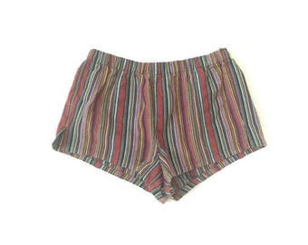 Vintage Hippy Stripped Booty Shorts