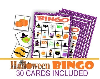 Halloween Bingo Game, Class Halloween Party, Class Party Game, Halloween Bingo, Halloween Preschool Game, Fall Class Party Game